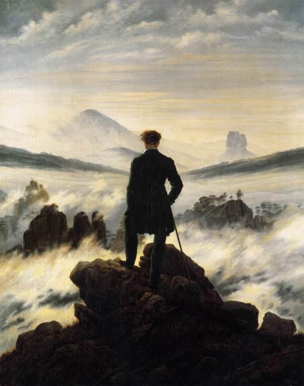 Caspar David Friedrich Wanderer über dem Nebel