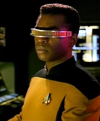 """Lieutenant Commander Geordi LaForge aus """"Star Trek: Das nächste Jahrhundert"""""""