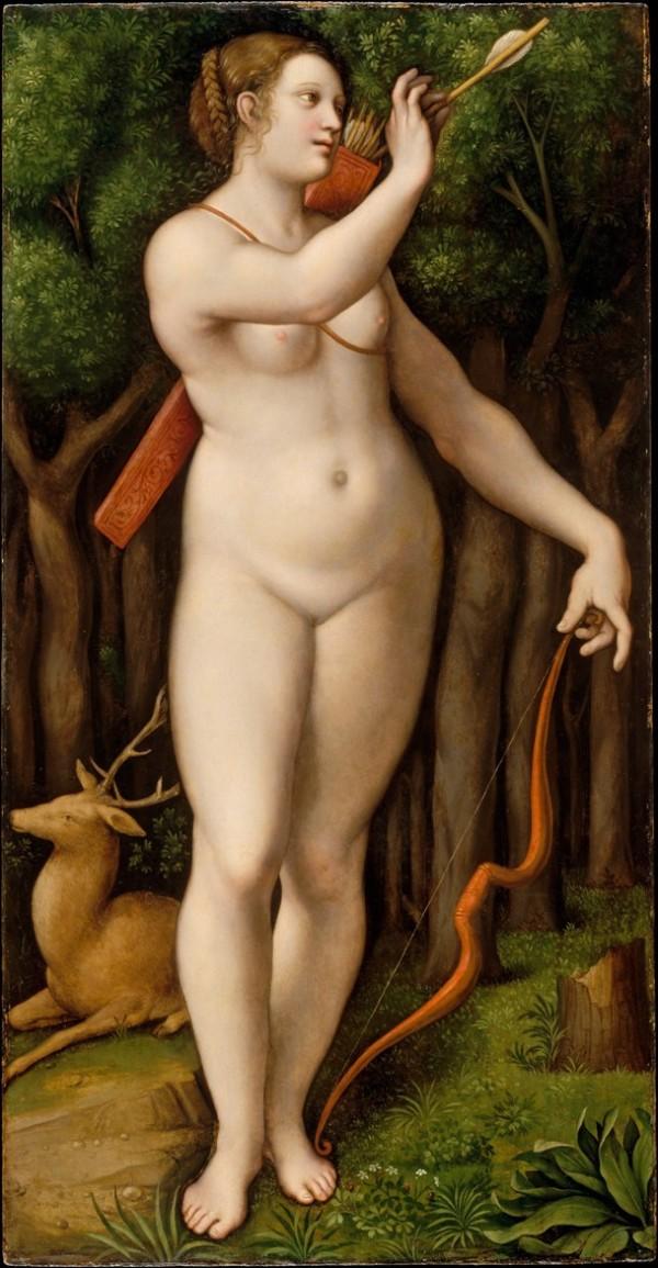 """Giampetrino (Schule von Leonardo): """"Diana, die Jägerin"""""""