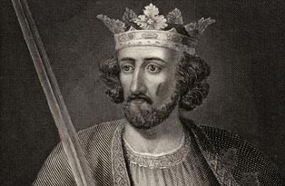 König Edward I. von England, der im Jahr 1290 auf Druck seiner Barone die Juden aus England vertrieb.