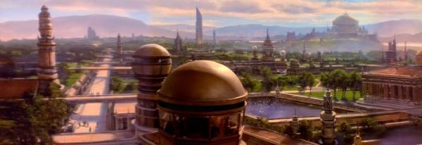 Stadtpanorama auf Bajor