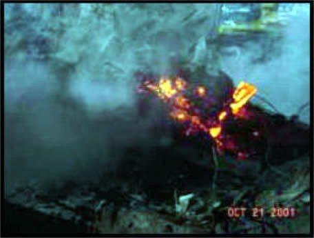 Rotglühender Stahl – noch 40 Tage danach. Kriegen Sie das mit Flugbenzin auch hin?