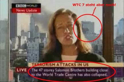 BBC-Bericht über den Zusammenbruch von WTC7