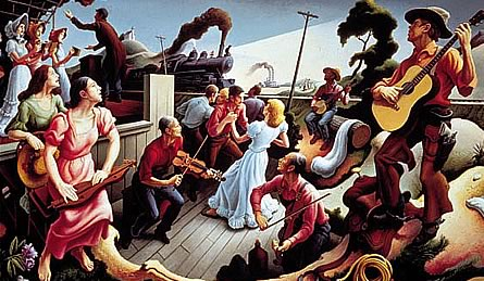 "Thomas Hart Benton: Aus seiner Serie ""The Sources of Country Music""."