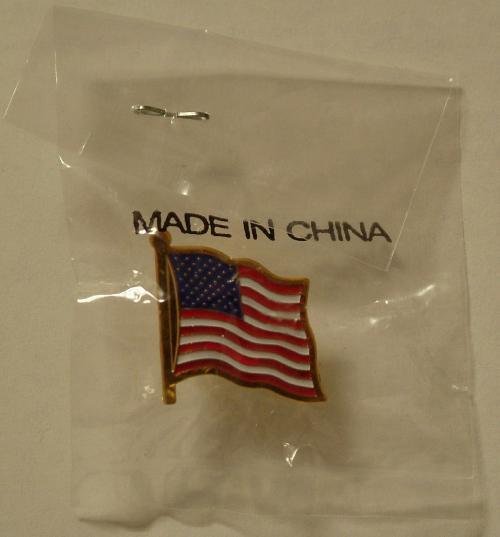 Patriotische Anstecknadel, made in China