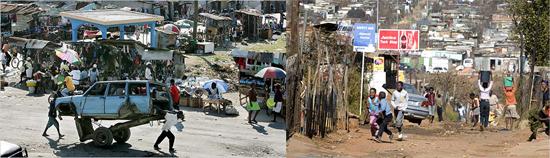 Port au Prince vs Soweto:Schwarze Herrschaft sieht auf beiden Seiten des Atlantiks gleich aus.