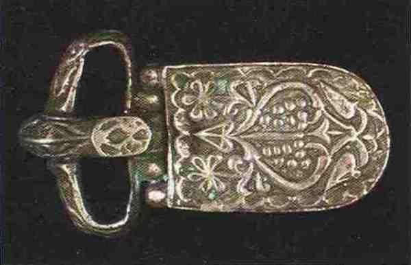 Eine chasarische Riemenzunge aus Bronze, 1. Hälfte des 8. Jh.