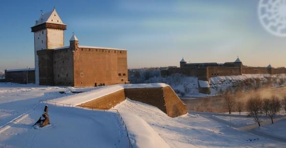 Festungen an der estnisch-russischen Grenze.