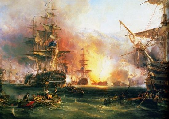 """George Chambers, """"Beschießung von Algier 1816 durch Lord Exmouth"""""""