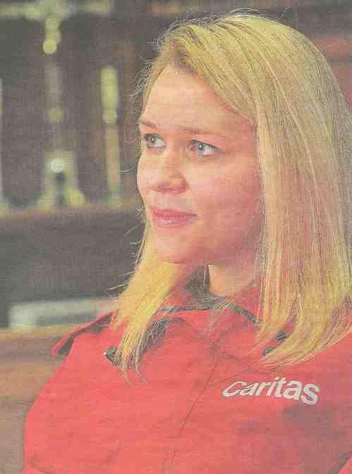 Karin Eichler beim Interview in der Sakristei der Votivkirche