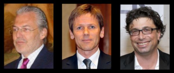 """Von links nach rechts: PR-""""Experte"""" Wolfgang Rosam, Kanzleramtsminister Ostermayer (SPÖ), Claus Pándi, """"Kronen-Zeitung"""""""