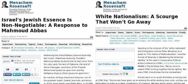 """""""Israels jüdisches Wesen ist nicht verhandelbar: Eine Antwort an Mahmoud Abbas"""" – """"Weißer Nationalismus: Eine Plage, die nicht verschwinden wird"""""""