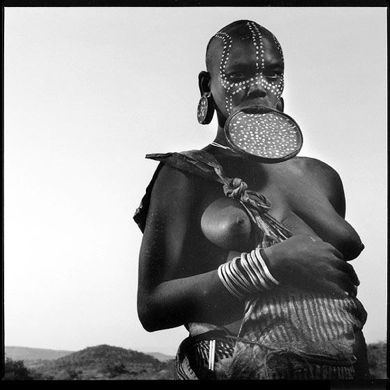 Suri-Frau aus Äthiopien