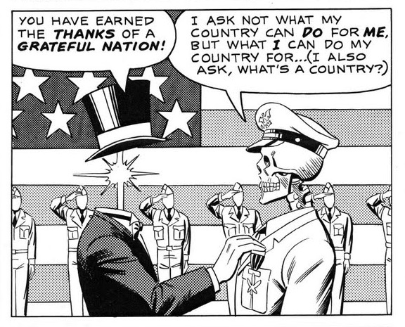 """""""Sie haben sich den Dank einer dankbaren Nation verdient!"""" – """"Ich frage nicht, was mein Land für mich tun kann, sondern was ich für mein Land tun kann… (Ich frage auch: was ist ein Land?)"""""""