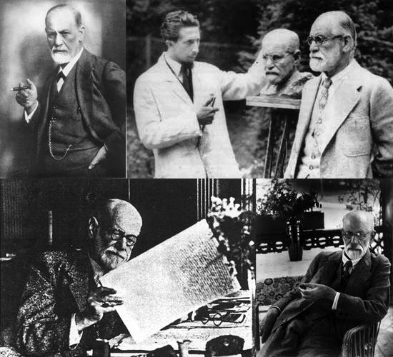 Sigmund Freud: obwohl ein Schwindler, wurde sein Status beharrlich gepflegt. Bilder von Freud sind dazu kalkuliert, seine Berühmtheit zu signalisieren. Seine Terminologie ist zu einem Teil des alltäglichen Sprachgebrauchs geworden.