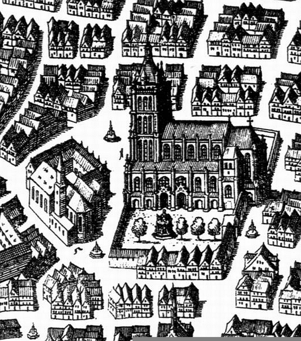 Das Ulmer Münster, um 1643…