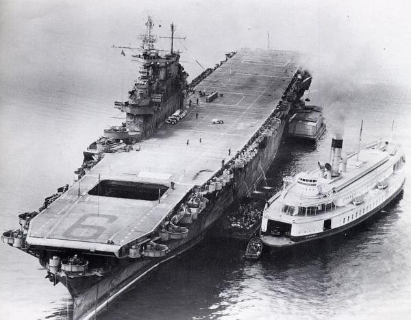 Flugzeugträger USS Enterprise (CV-6).