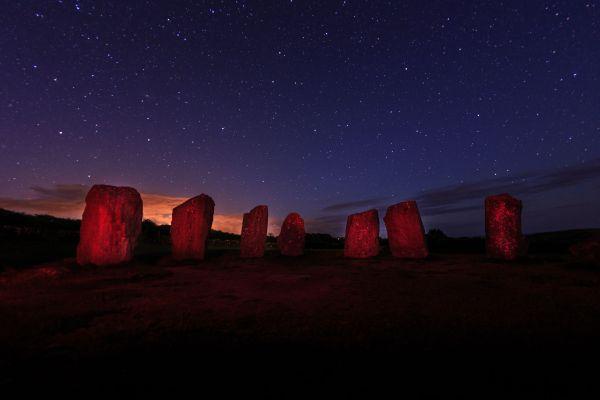Der Drombeg-Steinkreis im südlichen Irland.