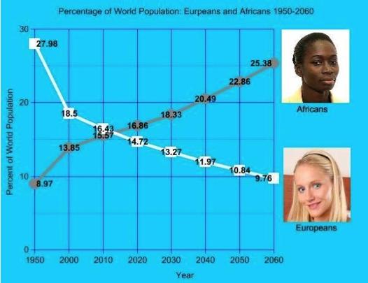 NPI: Globale weiße Population wird bis 2060 auf weniger als 10% abstürzen