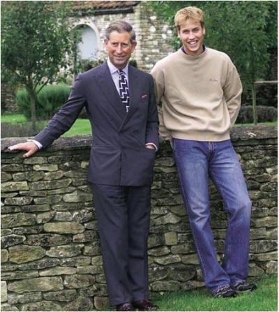 """Englische Kronprinzen Charles und William – wie ihre Vorgänger seit """"vielen, vielen Generationen"""" von jüdischen Beschneidern beschnitten."""