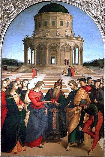 """Raffaello, """"Die Hochzeit der Jungfrau"""", 1504"""