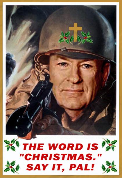 """Es heißt """"Weihnachten"""". Sag es, Kumpel!"""